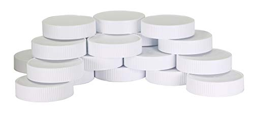 Plastic Mason Jar Regular Mouth Screw-On White Lids-24 Pack-Standard Size Jar Storage Caps-BPA Free - Made in USA