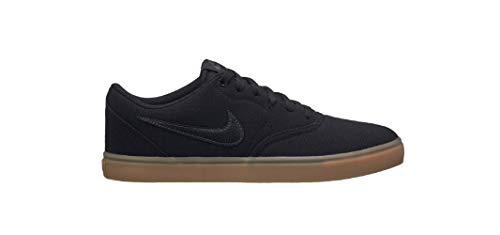 Nike Sb Brown - Nike Men's SB Check Solarsoft Canvas Skate Shoe (7 M US, Black/Black-Gum Light Brown)