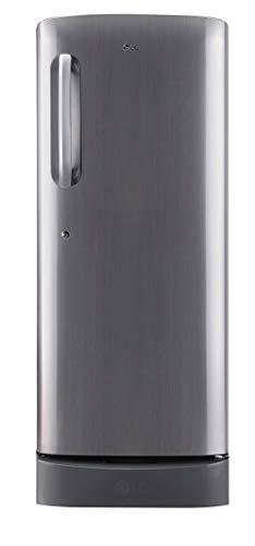 LG 235 L 2 Star Direct Cool Single Door Refrigerator  GL D241APZC, Shiny Steel