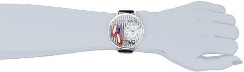 Whimsical Watches Unisex U1010005 Shoe Shopper Purple Leather Watch