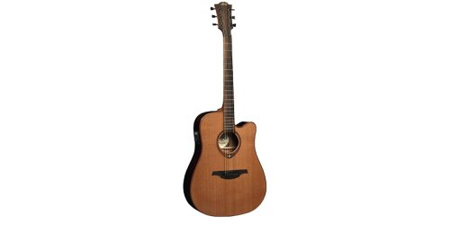 LAG T100DCE Stage Series Dreadnought Cutaway Acoustic-Electric Guitar -  Korg USA Inc.