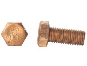 5/16''-18 x 5/8'' Silicon Bronze Hex Cap Screw, Pack of 10