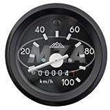 Tachometer mit Beleuchtung und Blinkkontrollleuchte grün, schwarzen Ring - ø60mm - 100km/h - S51, S53, S70