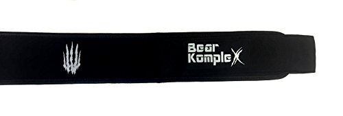 Bear KompleX 4'' Straight Weightlifting Belt for Powerlifting, Squats, Weight Training and More. Low Profile with Super Firm Back for Maximum Stability & Exceptional Comfort. Straight Black XL by Bear KompleX (Image #4)