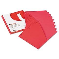 (Slash-Cut Pockets f/3-Ring Binders, Jacket, Letter, 11 Pt., Red,)