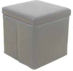 Leather Folding White Ottoman Storage Blanket BoxCube Amazon