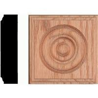 Solid Red Oak Rosette Block by House of Fara