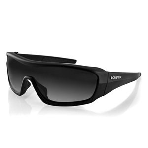 Bobster Enforcer Oversized Sunglasses, Black Frame/Smoke, Clear, Amber Lenses (Bobster Womens Motorcycle Sunglasses)