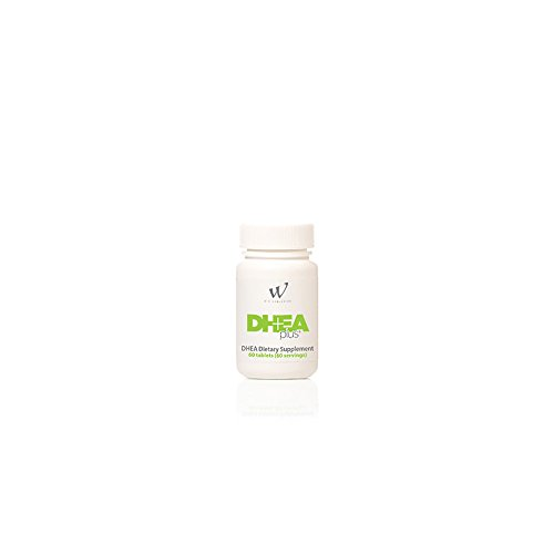 DHEA Plus 50 Milligram DHEA Dietary Supplement, Gingko Biloba, Bioperine (60 Count/Servings) by WIN Worldwide
