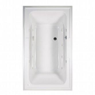 American Standard 2742048WC.020 Town Square Ecosilent Whirlpool Bath Tub, 6-Feet by 42-Inch, White - Bath 6' Whirlpool
