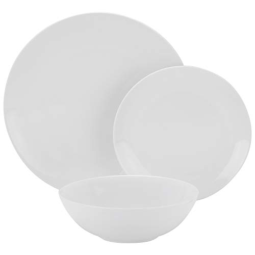 10 Strawberry Street Simply Coupe 12 Piece Dinnerware Set, - White Coupe