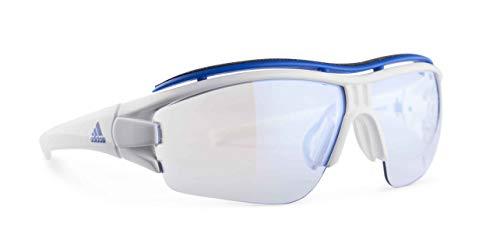 adidas Evil Eye Halfrim Pro L Sunglasses 2018 White Shiny Vario Blue Mirror (Adidas Evil Eye Halfrim Pro)