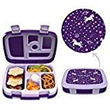 Bentgo Kids Prints (Unicorn) - Leak-Proof, 5-Compartment Bento-Style Kids Lunch Box - Ideal Portion Sizes for Ages 3 to…