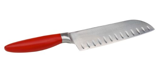Bonny Red Santoku Knife, - Handle Tang Full Bakelite