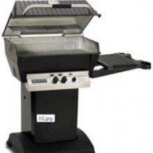 Broilmaster H3 Grill Package, Includes 26-Inch Patio Post with Base and Side Shelf Natural Gas