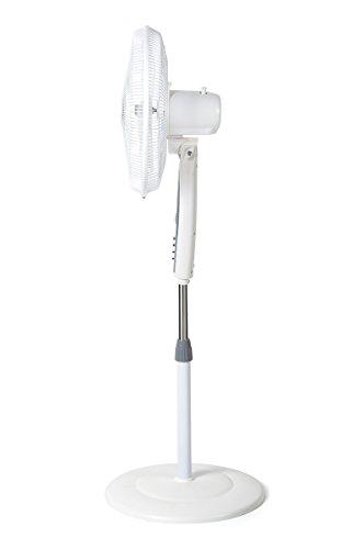 Orbegozo Sf 0147 Ventilador De Pie Oscilante 3 Niveles De Ventilacion Tamano Aspas 40 Cm Altura Regulable 50 W De Potencia 200 Decibeles Blanco