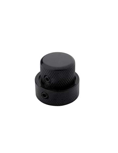Knob Control Tone (Guyker Guitar Dual Concentric Control Knobs - Dome Volume Tone Stacked Knob Replacement for Electric Guitar or Bass(Black))