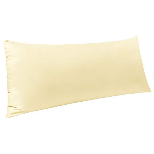 NTBAY Body Pillow Cover, Pillowcases, 100% Brushed Microfiber, Soft and Cozy, Envelope Closure, for Adults Pregnant Women, 20