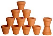 Besttoyhome 24 Pcs Small Mini Clay Pots 2 Terracotta Pots Clay Ceramic Pottery Planter Cactus Flower Pots Succulent Nursery Pots Great For Indoor Outdoor Plants Crafts Wedding Favor Amazon Com Au Lawn Garden