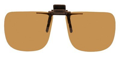 (Polarized Clip on Flip up Plastic Sunglasses, Rectangle, 58mm Wide X 47mm High (131mm Wide), Polarized Brown Lenses - Shade Control G-Clips)