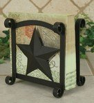 Rustic Brown Star Napkin Holder