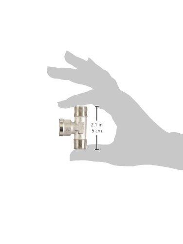 BSPT Pack of 5 R3//8 Nickel Plated Brass Parker 0928 00 17-pk5 Adaptor Female BSPP Tee Male G3//8