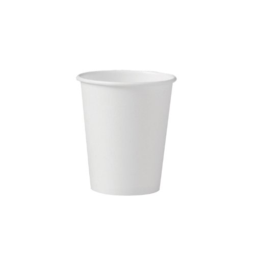 SOLO 370W-2050 Single-Sided Poly Paper Hot Cup, 10 oz. Capacity, White (Case of 1,000)