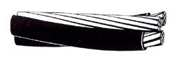 1000' Periwinkle 4-4-4 Overhead Triplex Aluminum Service Drop Cable Wire ACSR