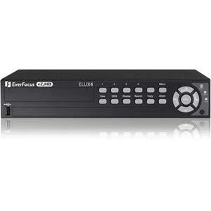 Everfocus Digital Dvr - Everfocus ELUX4/1T, 4 Channel H.264 1080p Hybrid (AHD + TVI) DVR, 1 TB