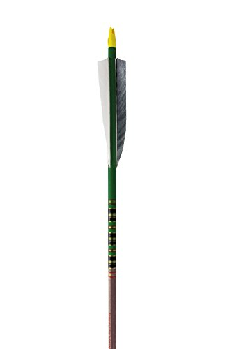 (Rose City Archery Port Orford Cedar Fancy Arrows with 5-Inch Length Shield Cut Fletch (12-Pack), Walnut Stain Shaft, 11/32-Inch Diameter/75-80-Pound Spine)