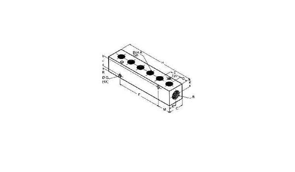 MRO 28452 1//8OUT 1//4IN 6 PORT MANIFOLD