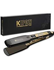 KIPOZI Professional Titanium Flat Iron Hair Straightener with Digital LCD...