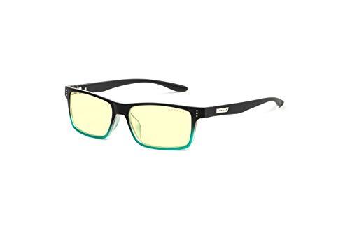 (GUNNAR Youth Gaming and Computer Eyewear /Cruz, Onyx-Teal Frame, Amber Tint - Patented Lens, Reduce Digital Eye Strain, Block 65% of Harmful Blue Light)