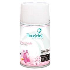 Metered Fragrance Dispenser Refills, Baby Powder, 6.6 oz, 12/Carton