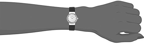 Skagen Women's Ancher Quartz Stainless Steel and Leather Casual Watch, Color: Silver-Tone, Black (Model: 358XSSLBC)
