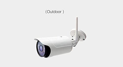 HDVD HDV-IC820 Plug & Play H.264 HD 1280720P Wireless IP/Network Weather Proof (Water Proof) Outdoor Camera with 2.8mm Lens, ONVIF, Night Vision (White)