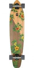 Globe Byron Bay Complete Skateboard - Bamboo/hibiscus - 9.5in X 43.0in
