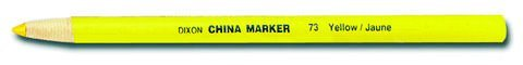 6 Pack Dixon 00073 Phano Peel-Off China Marker - Yellow - 12 per Package by PencilThings