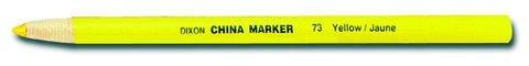 DIXON TICONDEROGA CO. China Marker, Yellow, Dozen (73) -