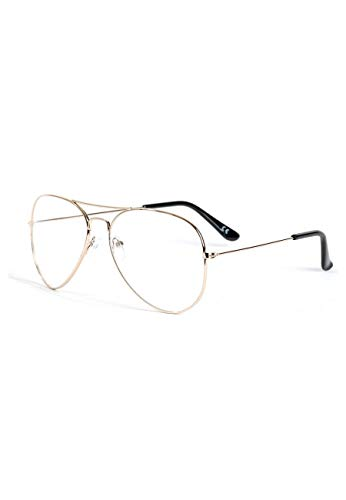 UNISEX SY2031 AVIATEUR LUNETTES Or OR Custom Magic qX7zExtt