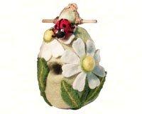 DZI Handmade Designs DZI484061 Ladybug Felt Birdhouse