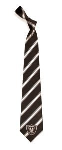Oakland Raiders Woven Polyester Necktie