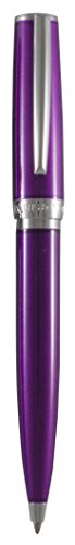 Marquis by Waterford Versa Transparent Purple Lacquer Ballpoint Pen with Chrome Accents ()