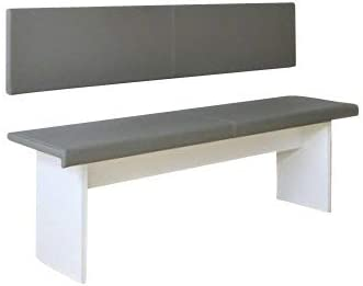ca made in Germany XXL cuscino da parete 150/cm inclusoset di montaggio in Eco Pelle B 150cm x T 30cm x H 4cm 100.000/altamente resistente  all/'abrasione 50188.1102 grau