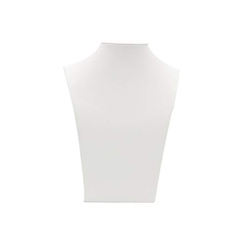 - White Leather Necklace Bust Jewelry Display Stand Figure Jewelry Display Stand (H10