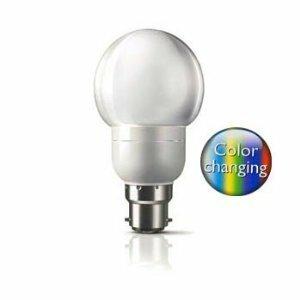 Philips 1.5w Energy Saving LED Multi Colour Changing BC (B22) Bayonet Cap Light  Bulb [Energy Class A]