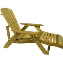 Bear Chair Outdoor Adjustable Adirondack Lounge - Pine (Outdoor Adjustable Adirondack Lounge)