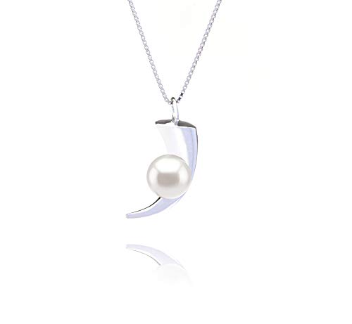 Larina White 8-9mm AAAA Quality Freshwater 925 Sterling Silver Cultured Pearl Pendant For Women by PearlsOnly (Image #8)