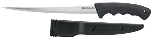- American Angler Japanese 420J2 Stainless Steel Soft Grip 7.5 -Inch Fillet Knife with Molded Sheath 30540