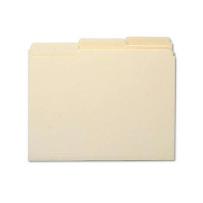 Smead - Antimicrobial One-Ply File Folders 1/3 Cut Top Tab Letter Manila 100/Box
